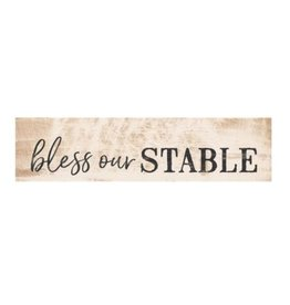 Bless Our Stable Little Sign