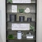 Galvanized Metal Wall Shelf