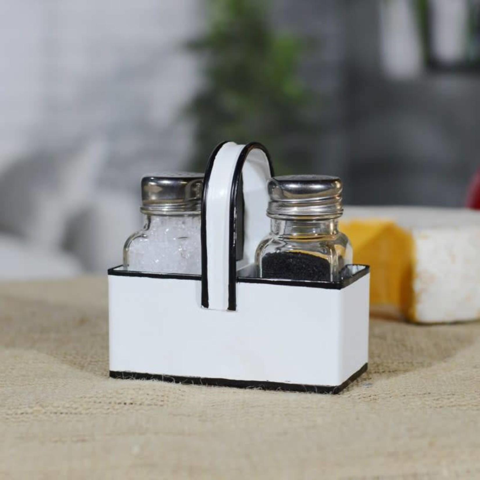 Enamel Salt and Pepper Shaker Set