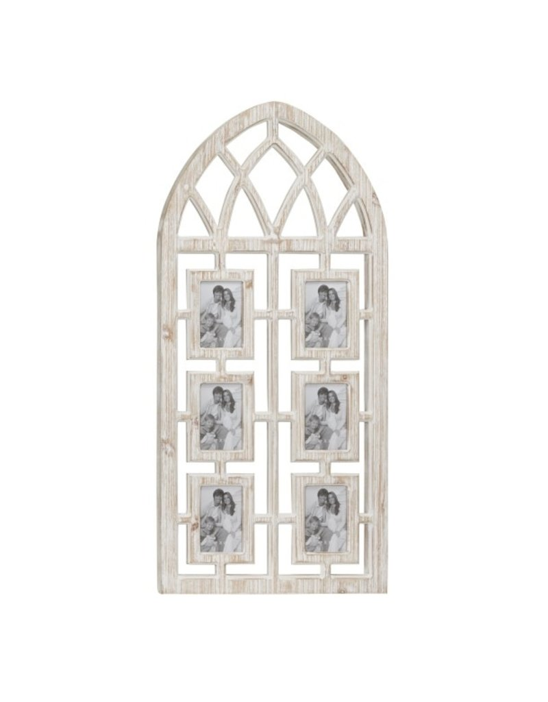 Wood Arch with 6 Frames 46423