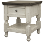 Stone End Table with Drawer