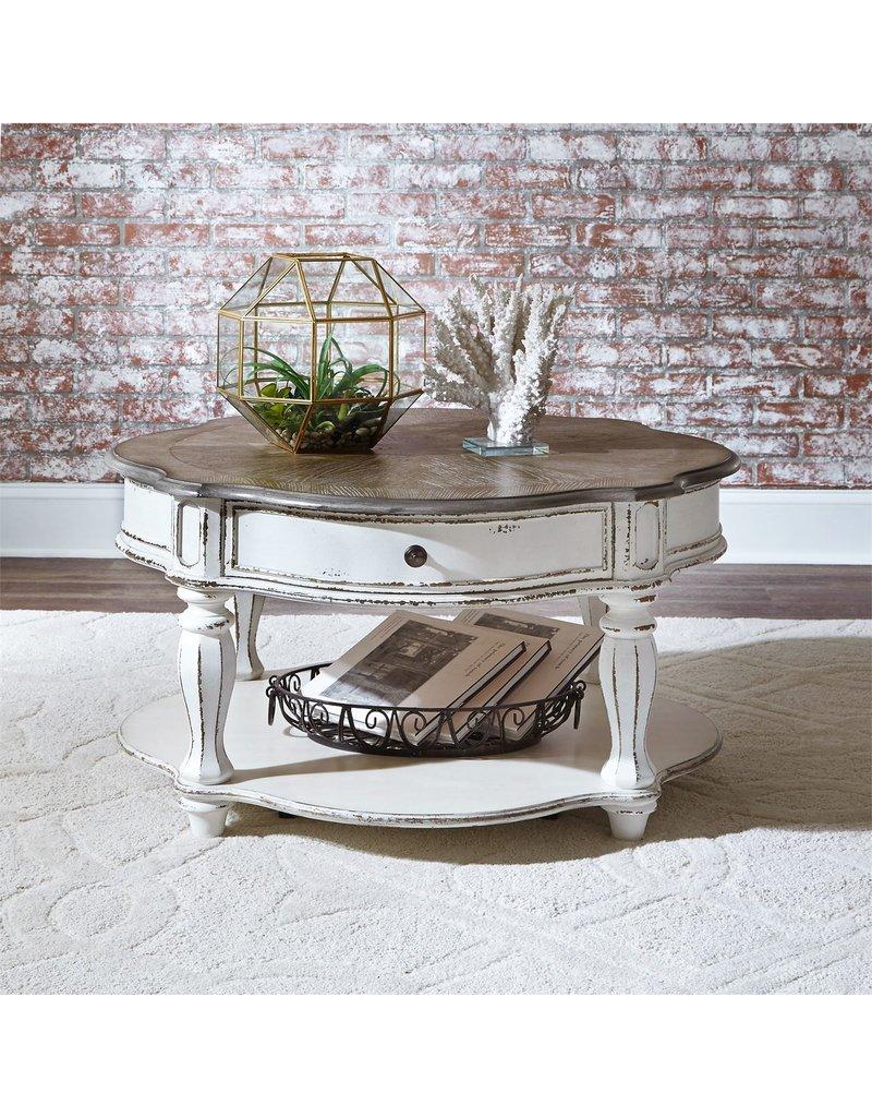 Magnolia Manor Round Coffee Table 244 Ot1011 Dirt Road Rustics Furniture And Home Decor
