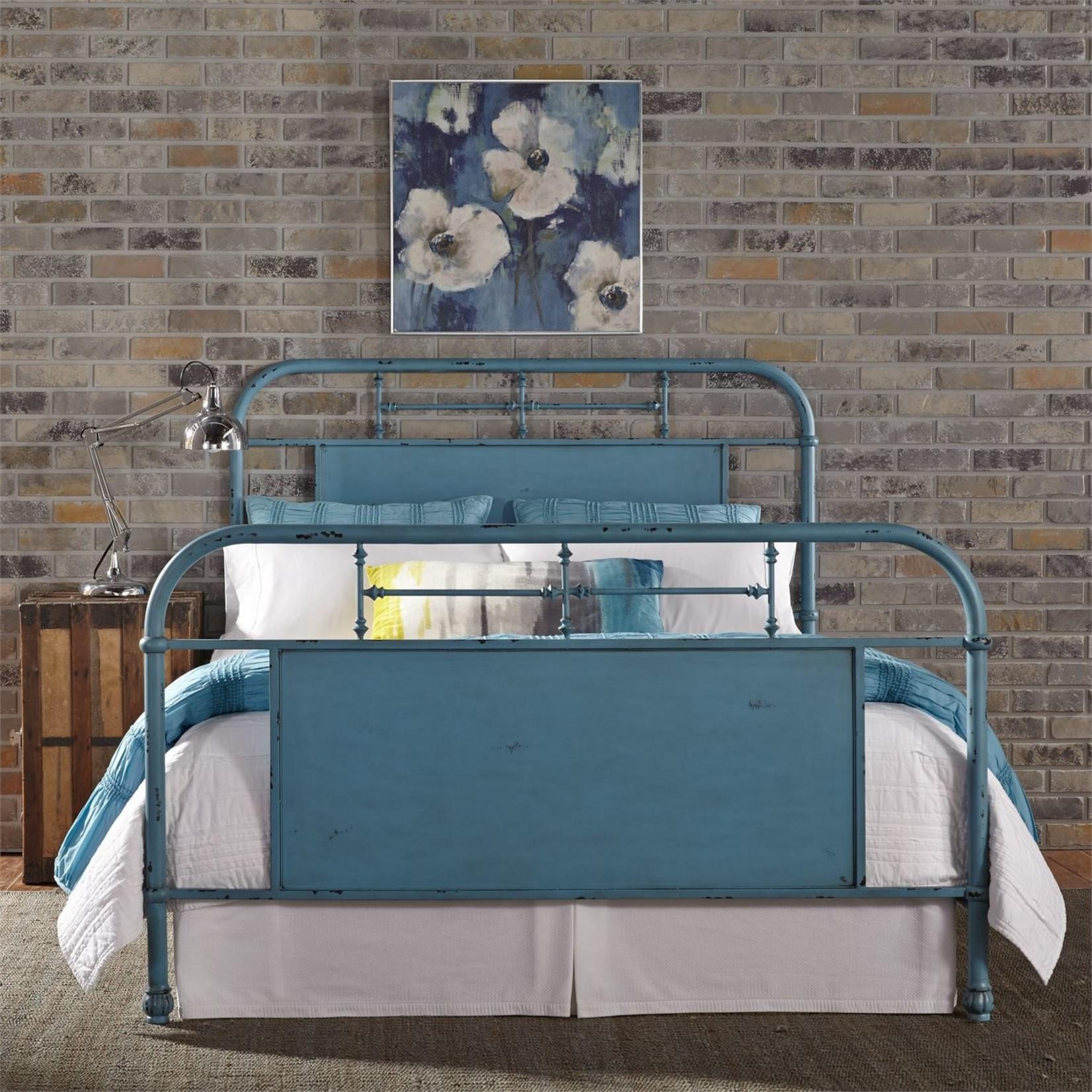 Queen Vintage Metal Bed