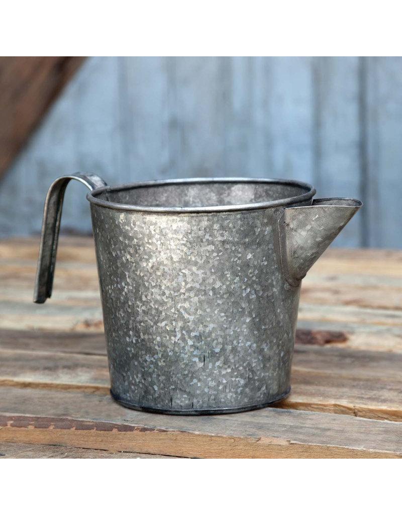 Galvanized Metal Dairy Pitcher