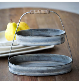 Petite Oval Serving Tier Tray