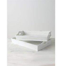 Distressed White Tray