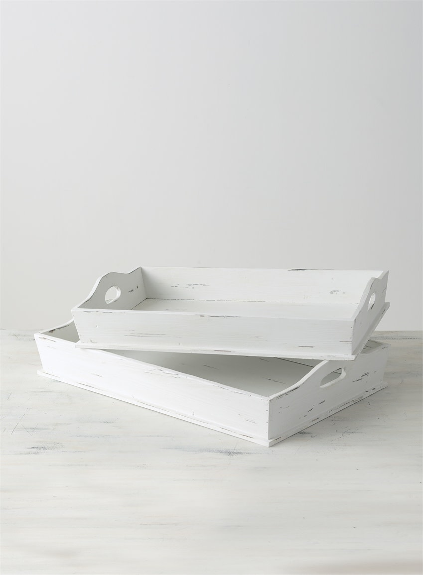 Distressed White Tray Dirt Road Rustics Furniture And Home Decor