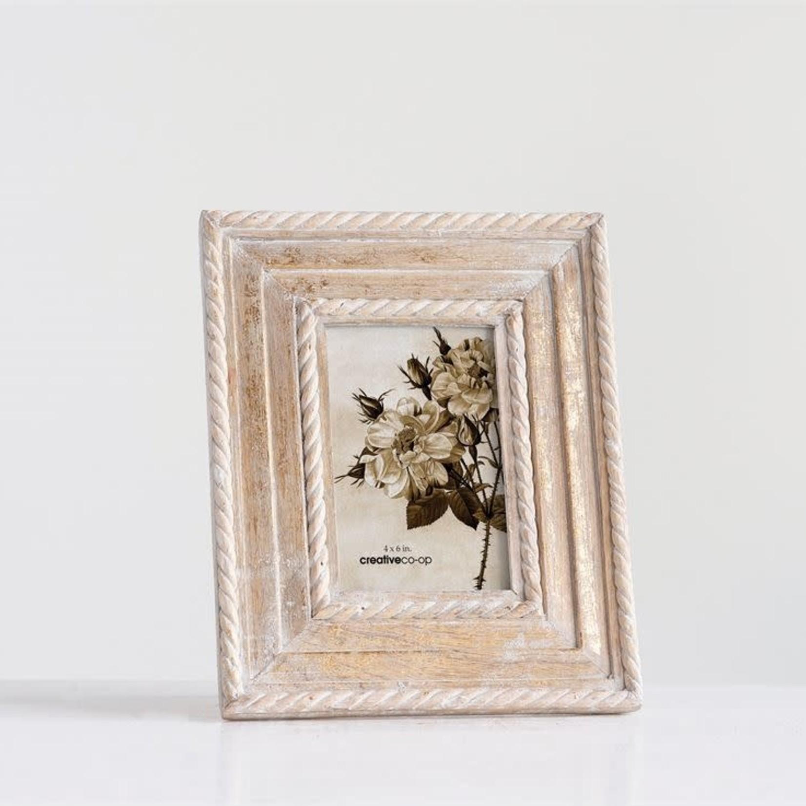 Gold Brushed Wood Frame 4x6 XM3435