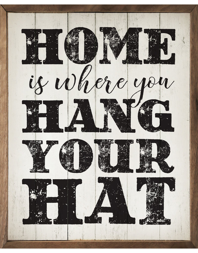 Where You Hang Your Hat 16x20