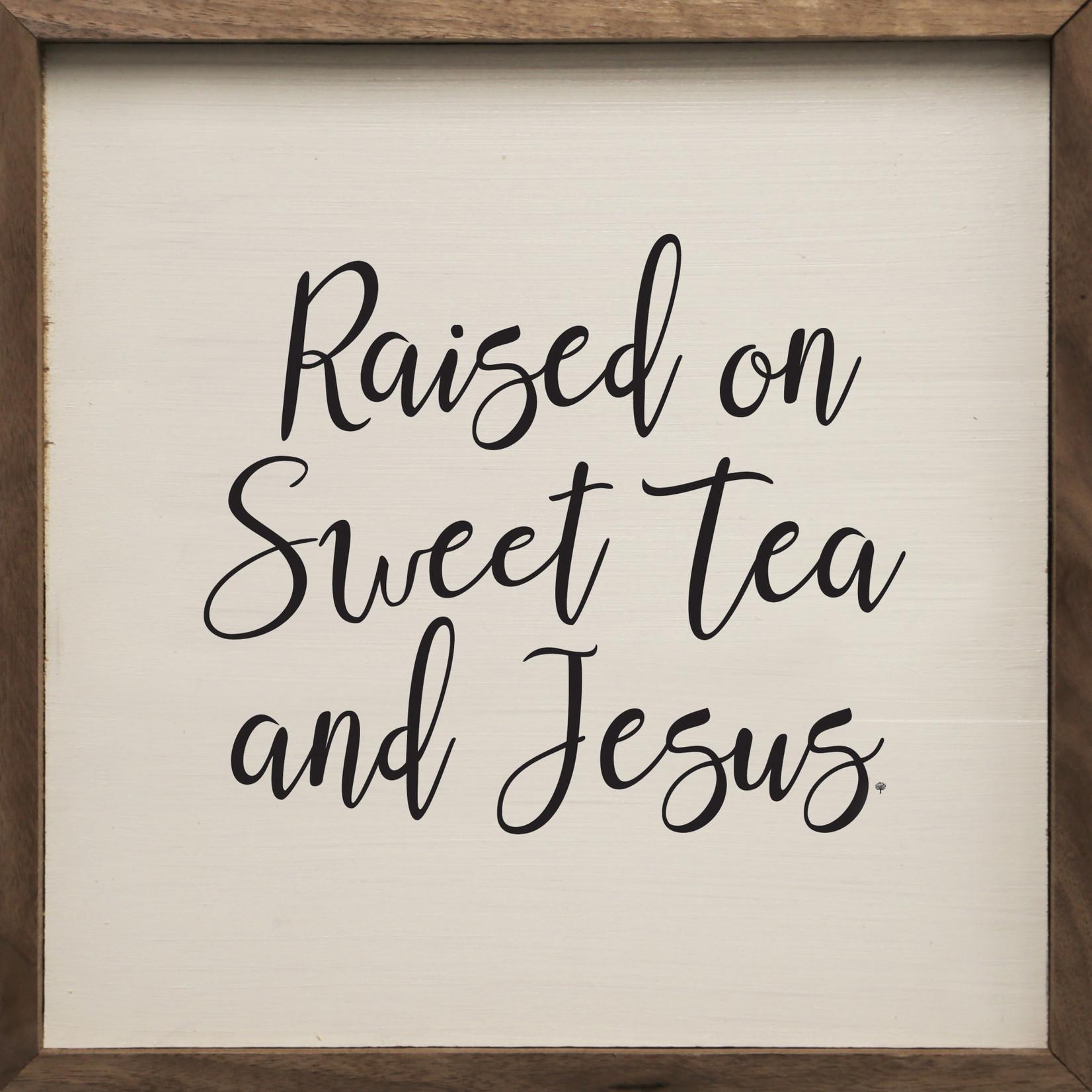 Sweet Tea and Jesus Wood Sign