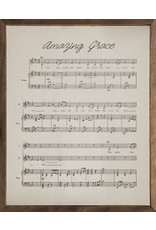 Amazing Grace Lyrics 16x20