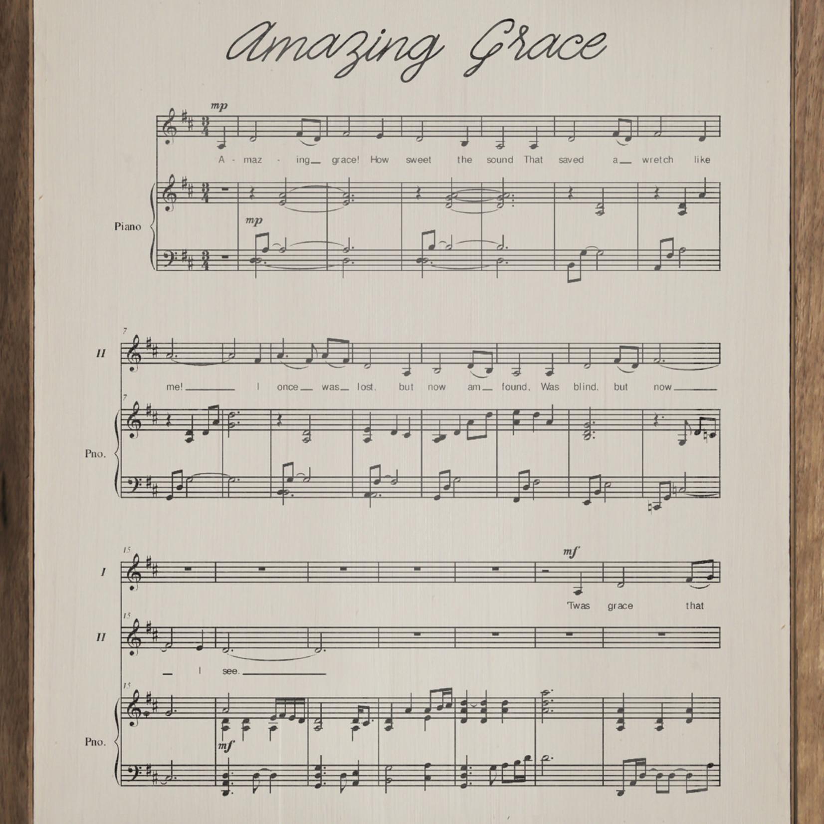 Amazing Grace Lyrics 16x20