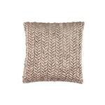 Taupe Velvet Pillow 20x20