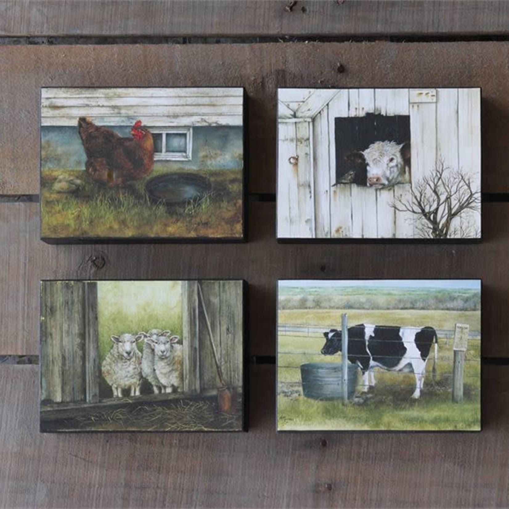 Farm Animal Block Decor - 4 Styles DA2756A