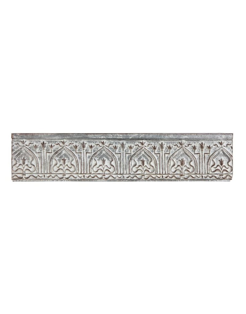 Distressed Zinc Wall Shelf