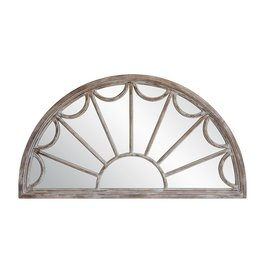 Half Circle Wood Mirror