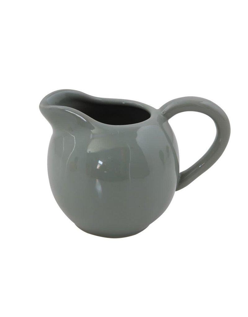 Grey 10 oz. Stoneware Creamer