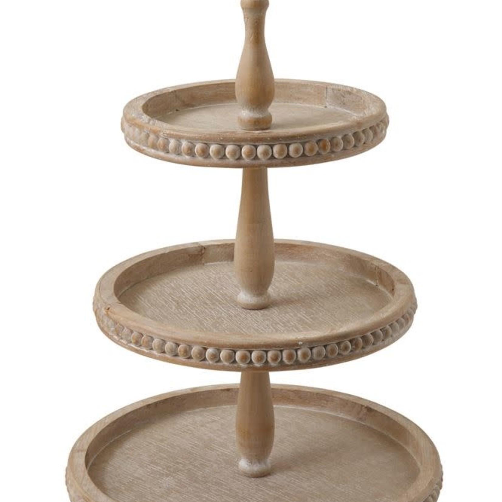Decorative Wood 3-Tier Tray Light