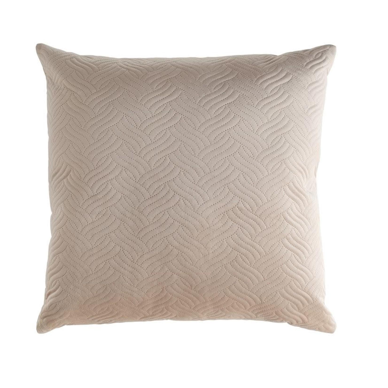 """24"""" Taupe Velvet Pillow"""