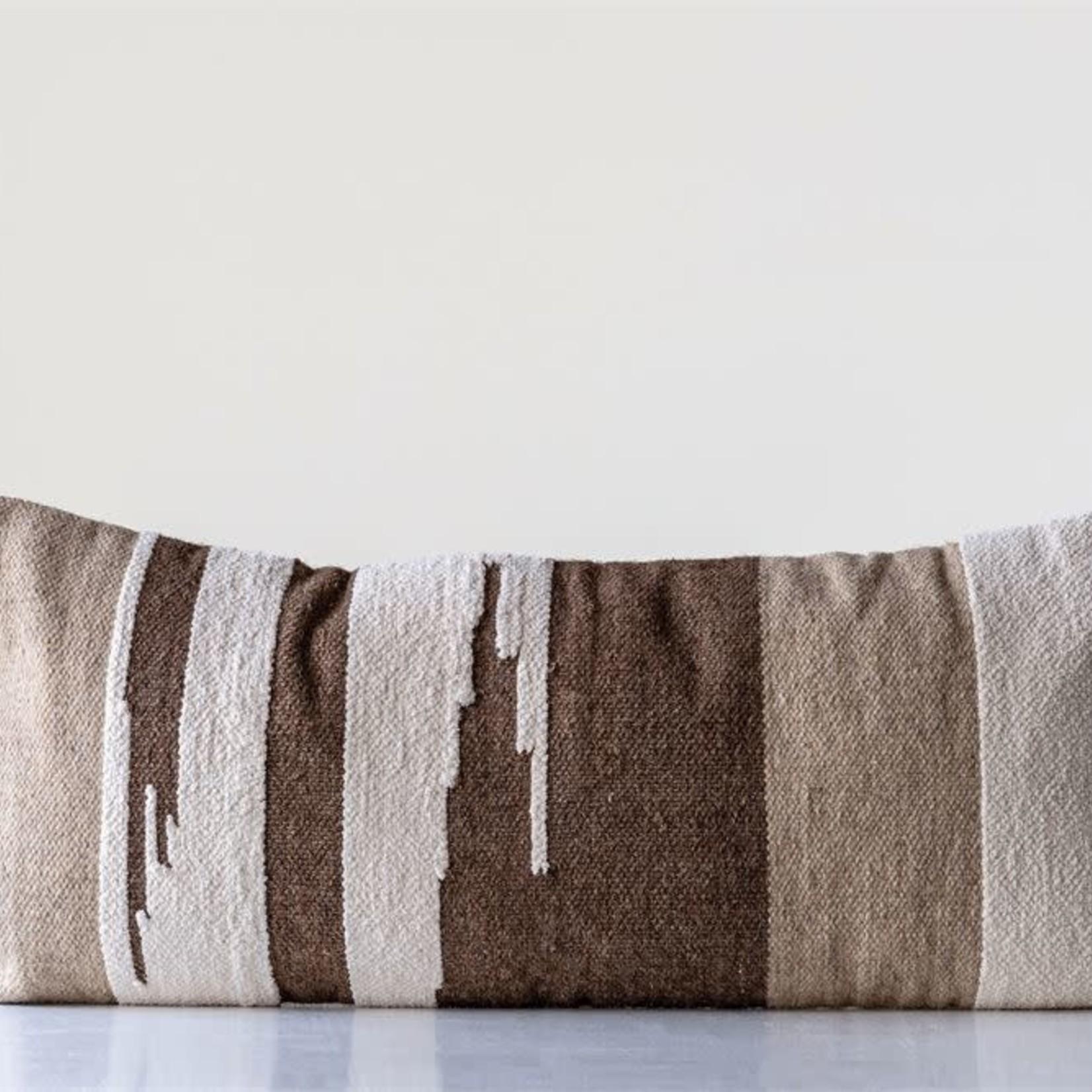 Hand Woven Wool Kilim Lumbar Pillow