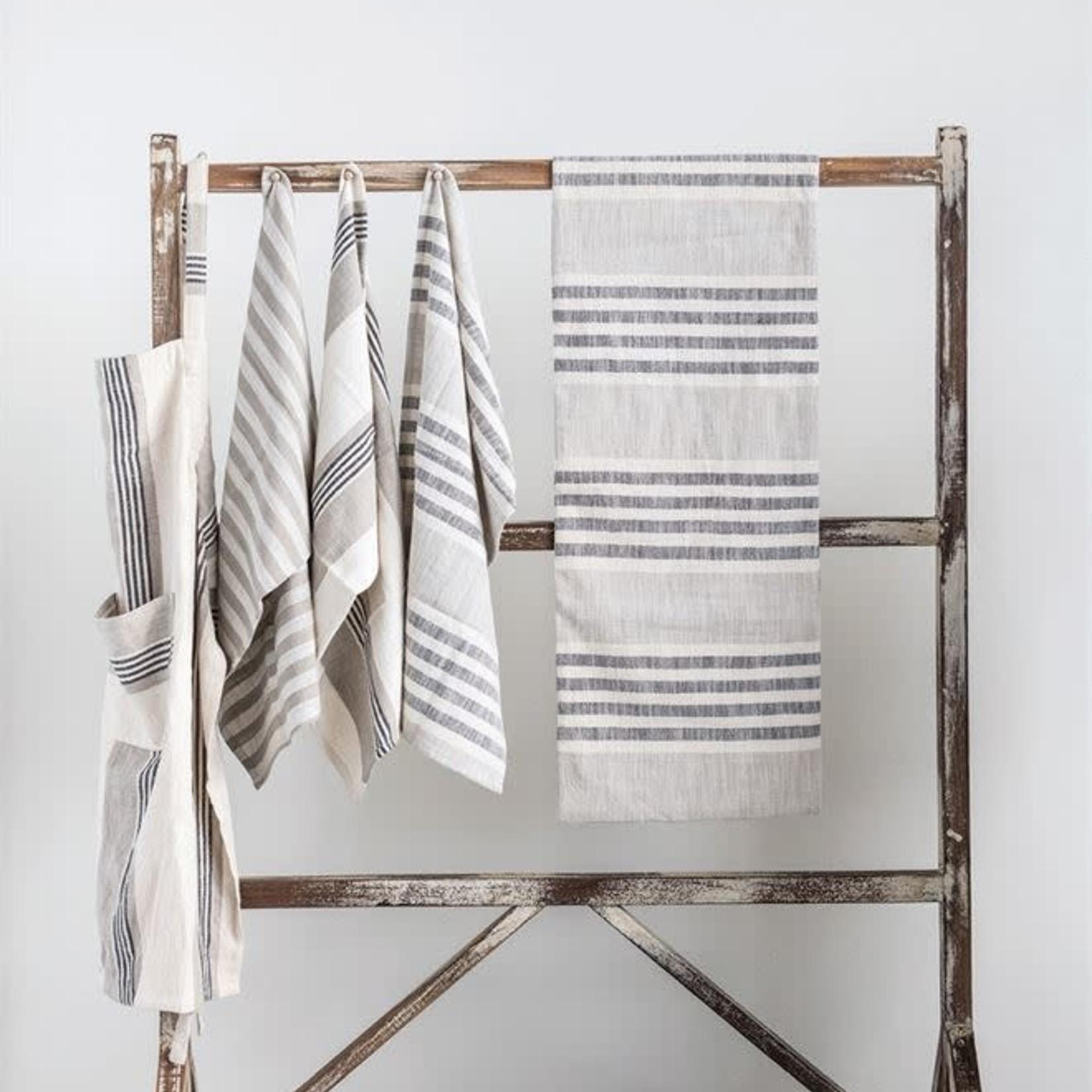 Woven Cotton Stripe Table Runner