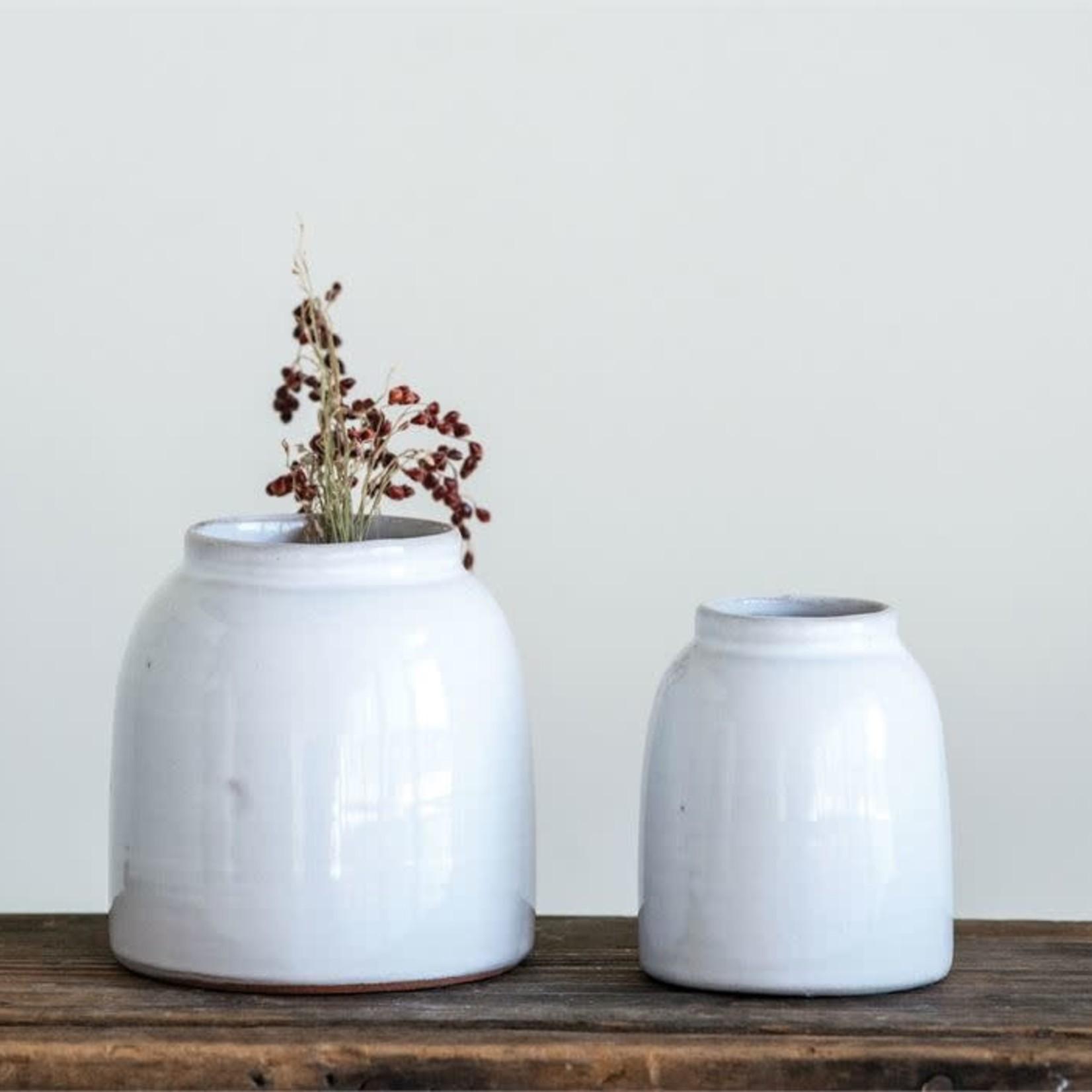White Terra Cotta Vase DF1418
