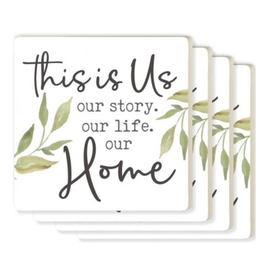 Our Home Coasters - 4 Pack
