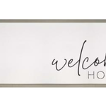 Welcome Home Framed + Textured Sign WPL0016