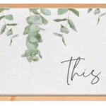 This Is Us Framed + Textured Sign WPL0020