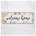 Welcome Home Framed + Textured Sign WPL0005