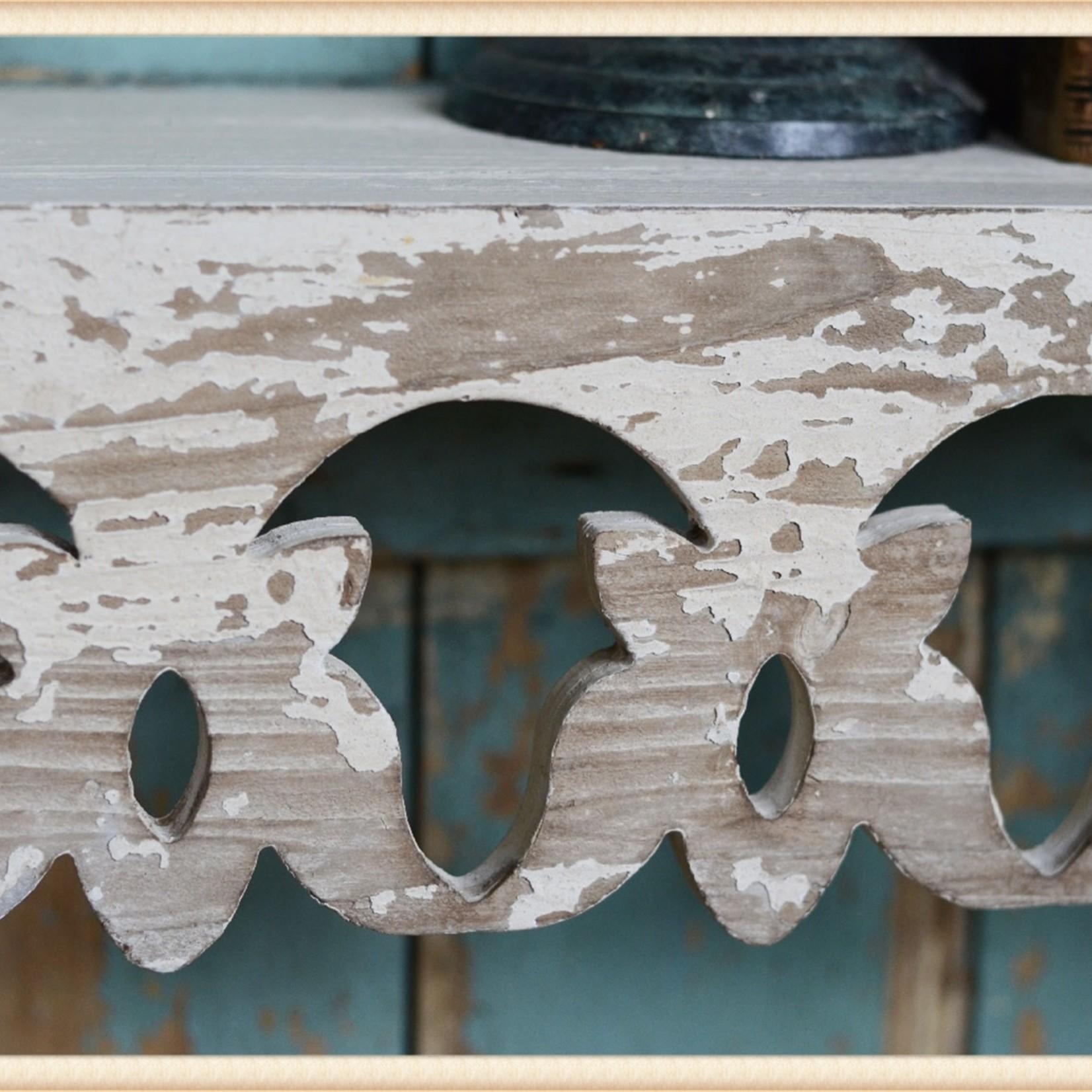 WHITE SCROLLWORK SHELF 18QF1819