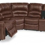 Town Leather Power Sectional