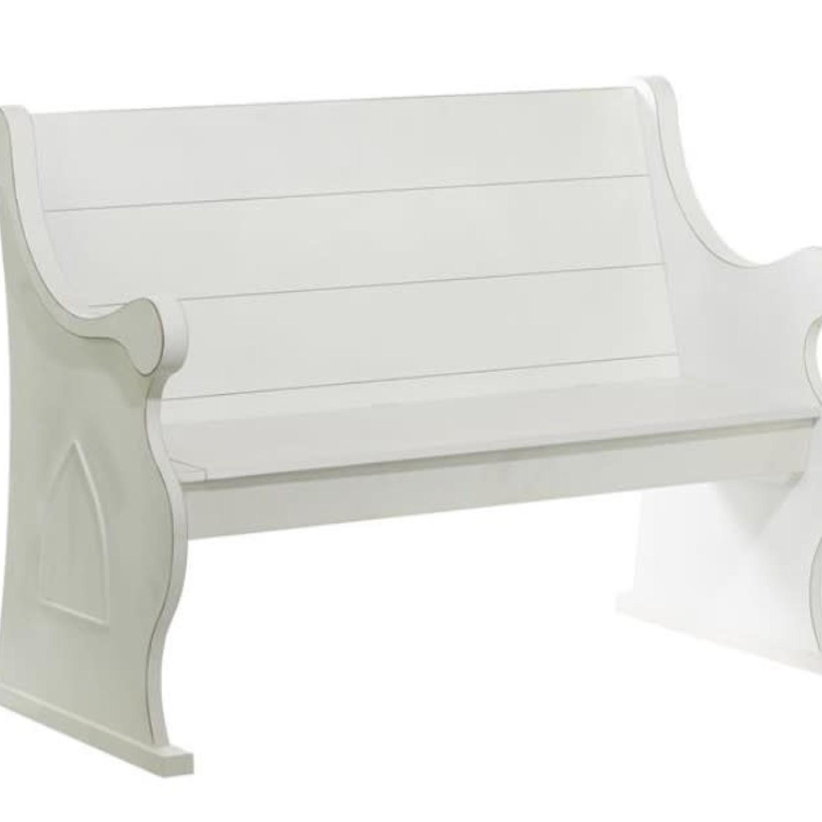 White Church Pew Bench