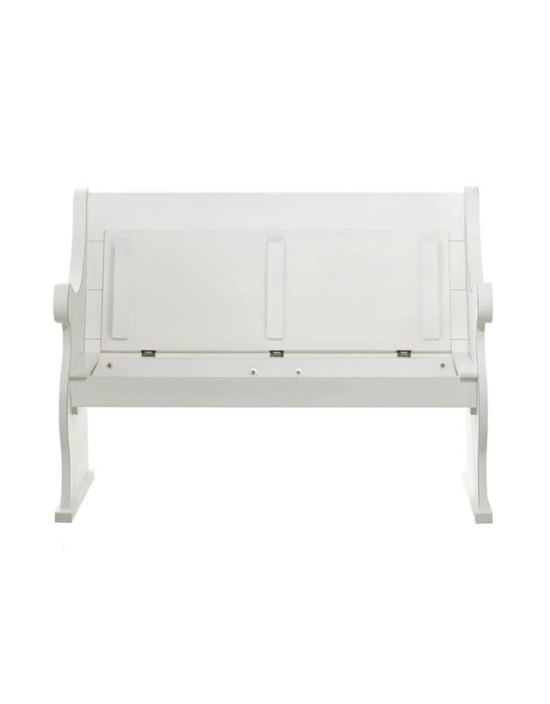 White Church Pew Bench