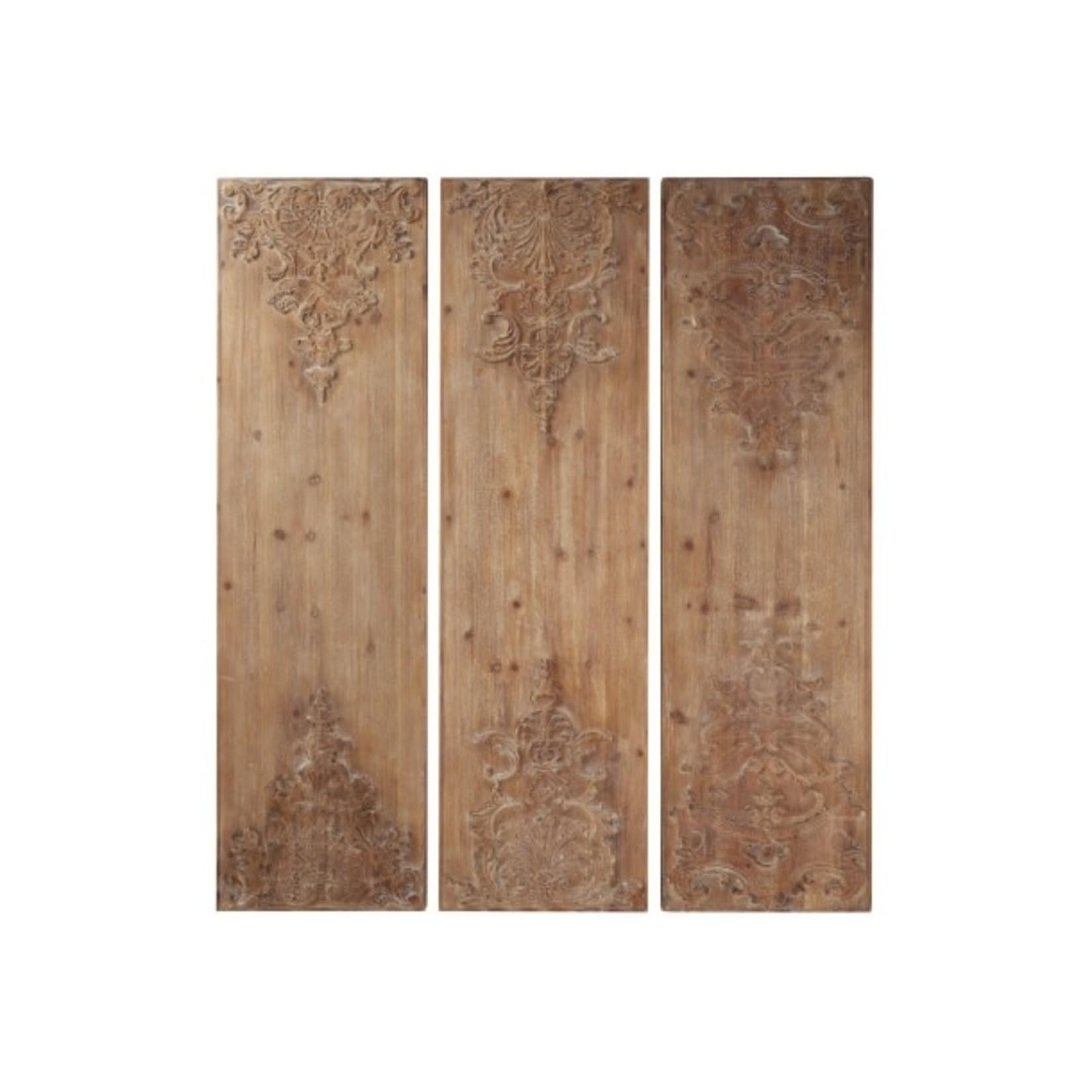 Panel Wood Wall Decor With Embellishment 81483