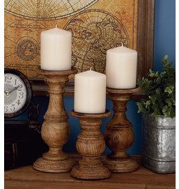 Wood Candlesticks Set of 3