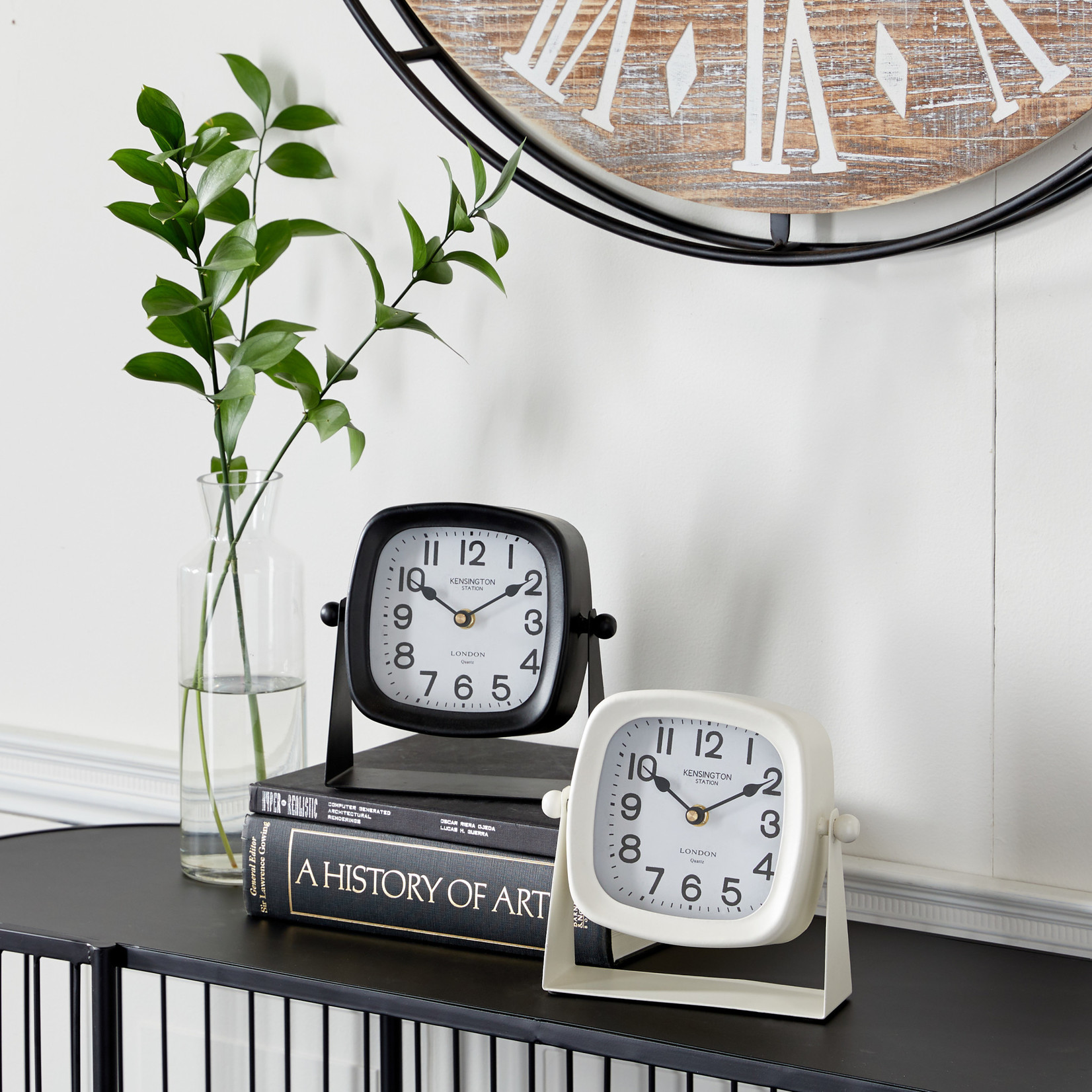 Metal Clock on Stand