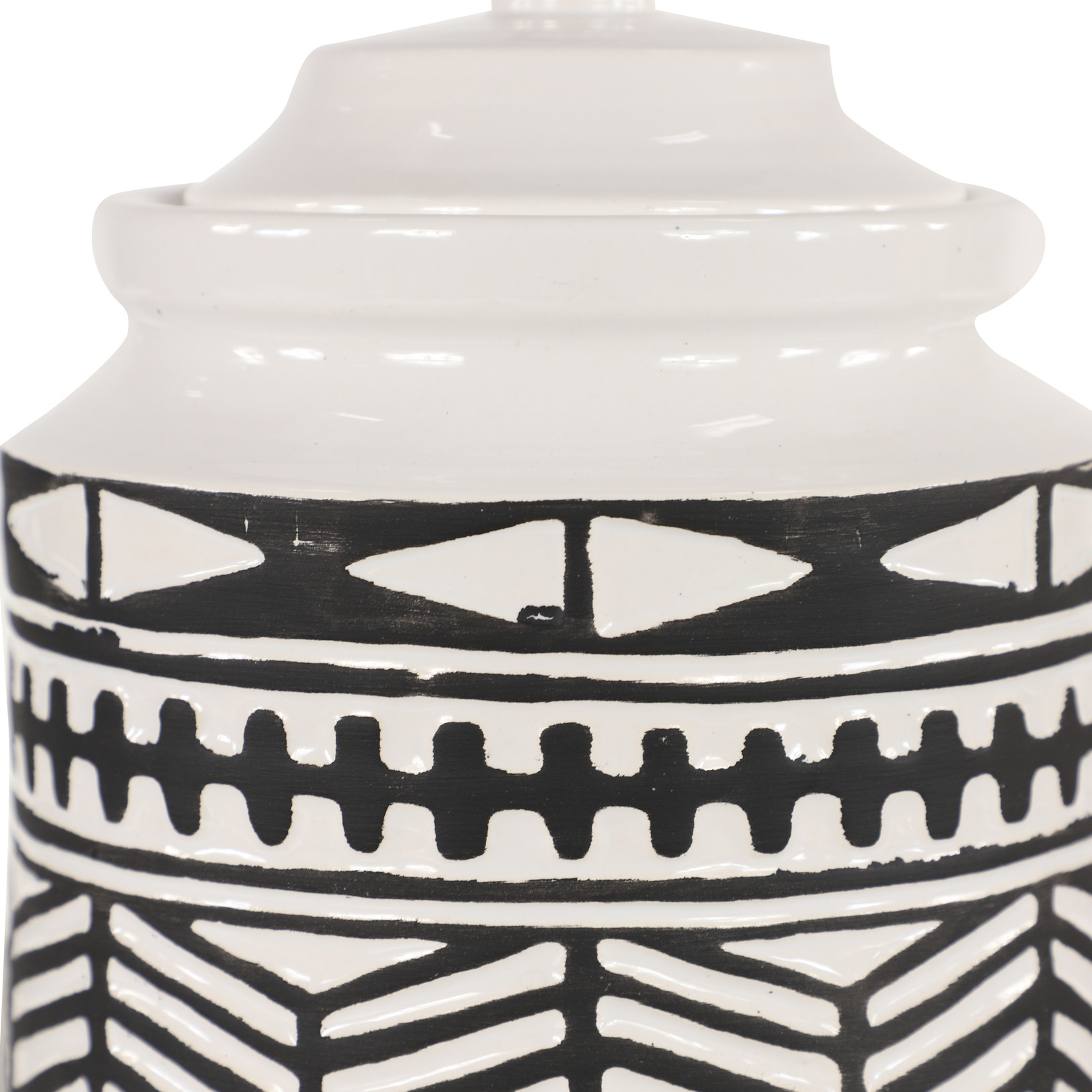 Black and White Canister Set of 2