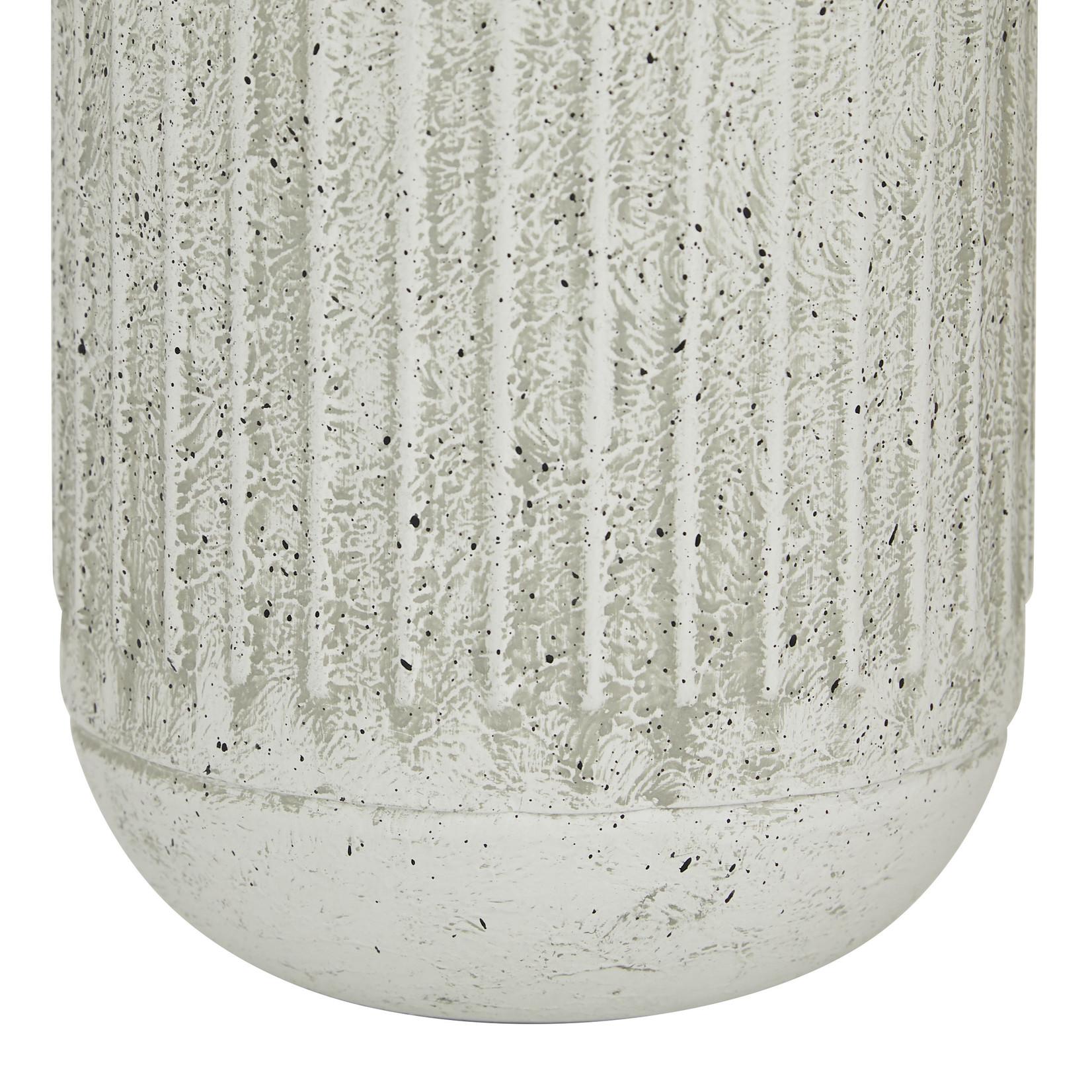 Ribbed Grey Vase