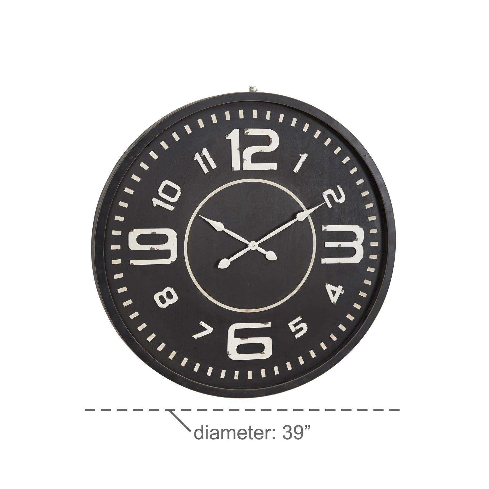 Black Wood Wall Clock
