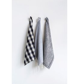 Black and White Tea Towels Set of 3