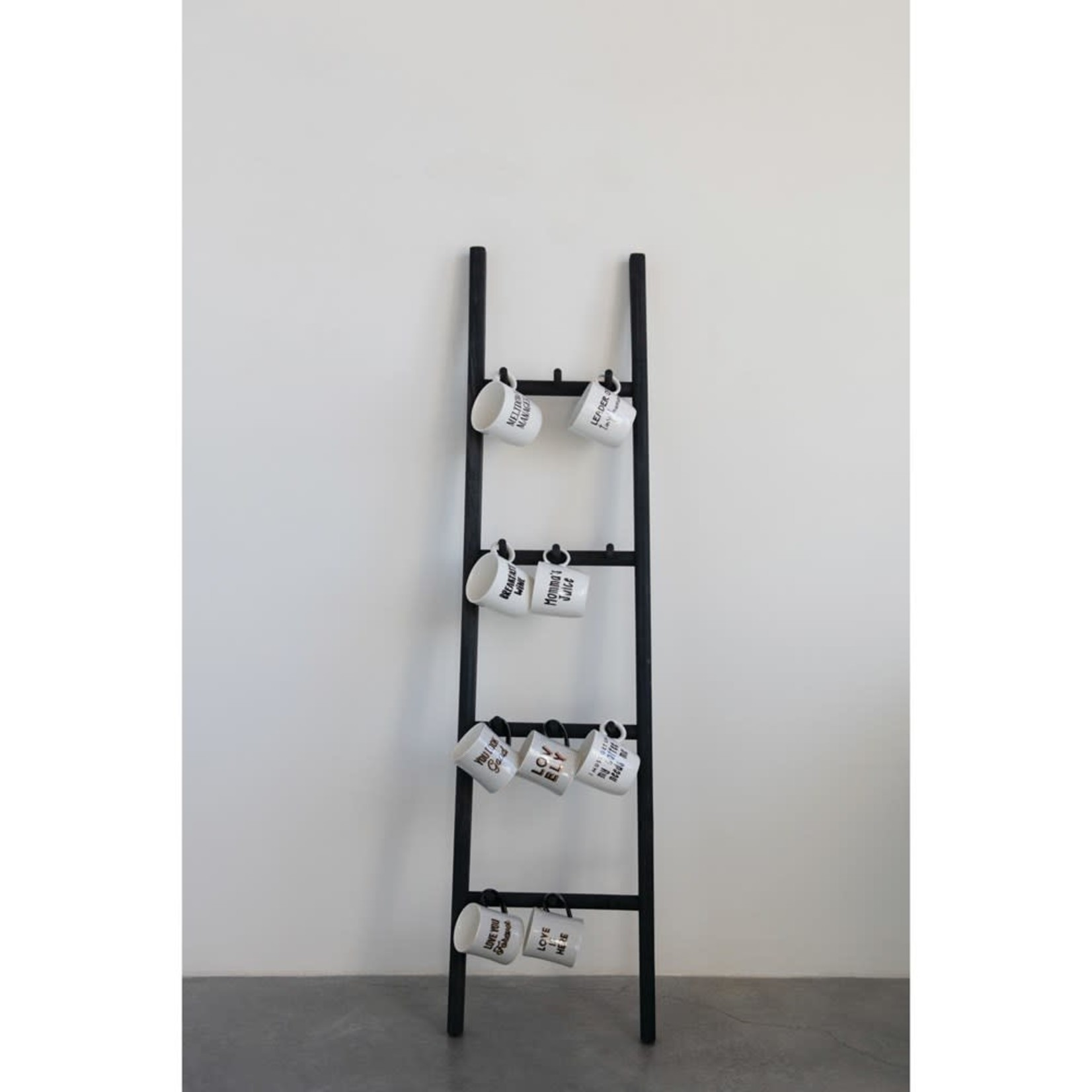 Decorative Wood Ladder with Pegs
