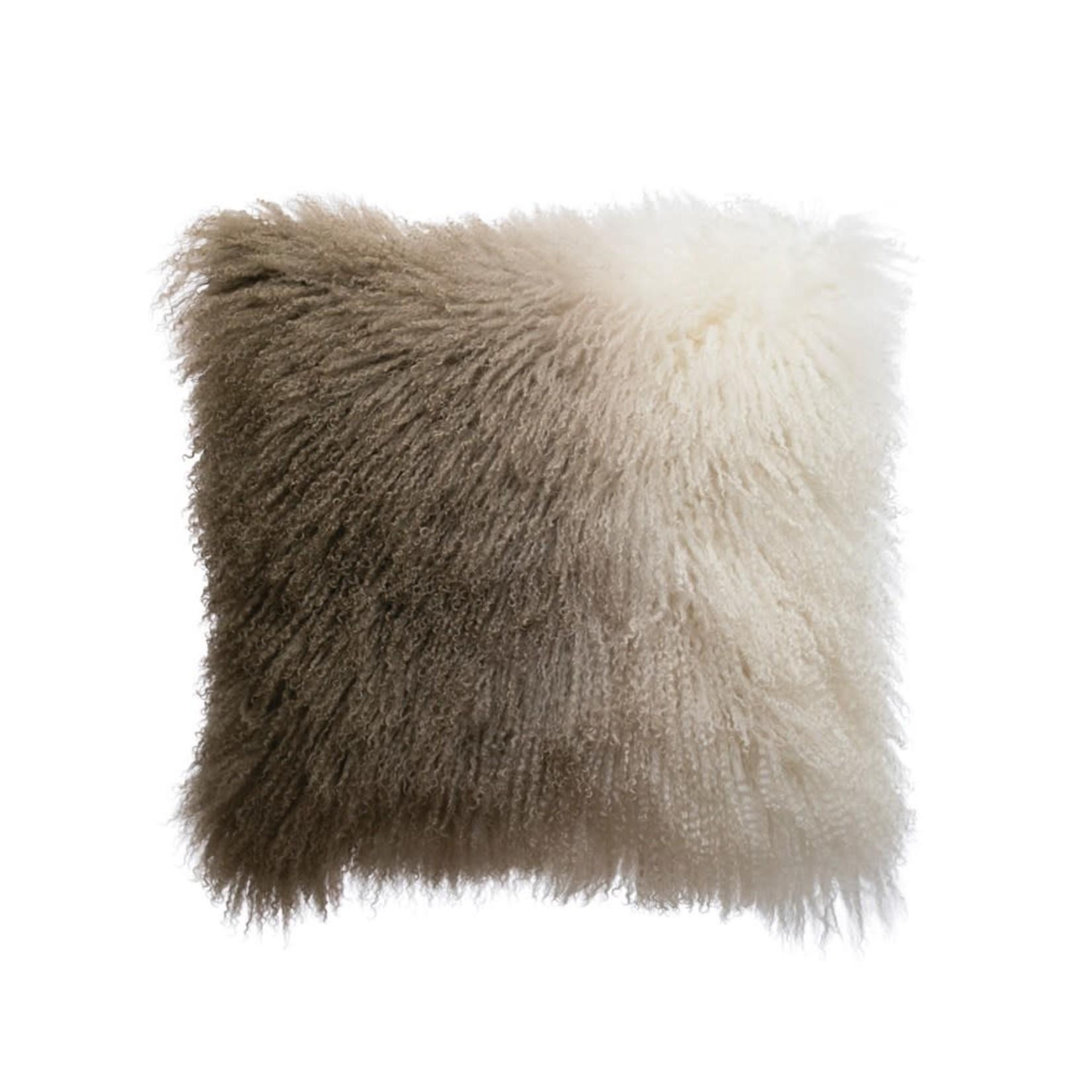 Ombre Mongolian Fur Pillow
