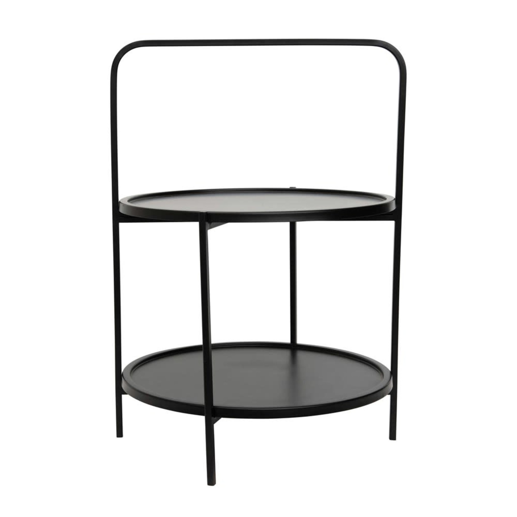 Metal Two Tier Tray Table