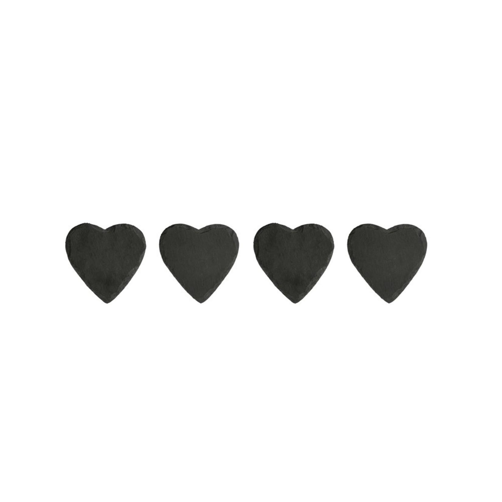 Slate Heart Coasters Set of 4
