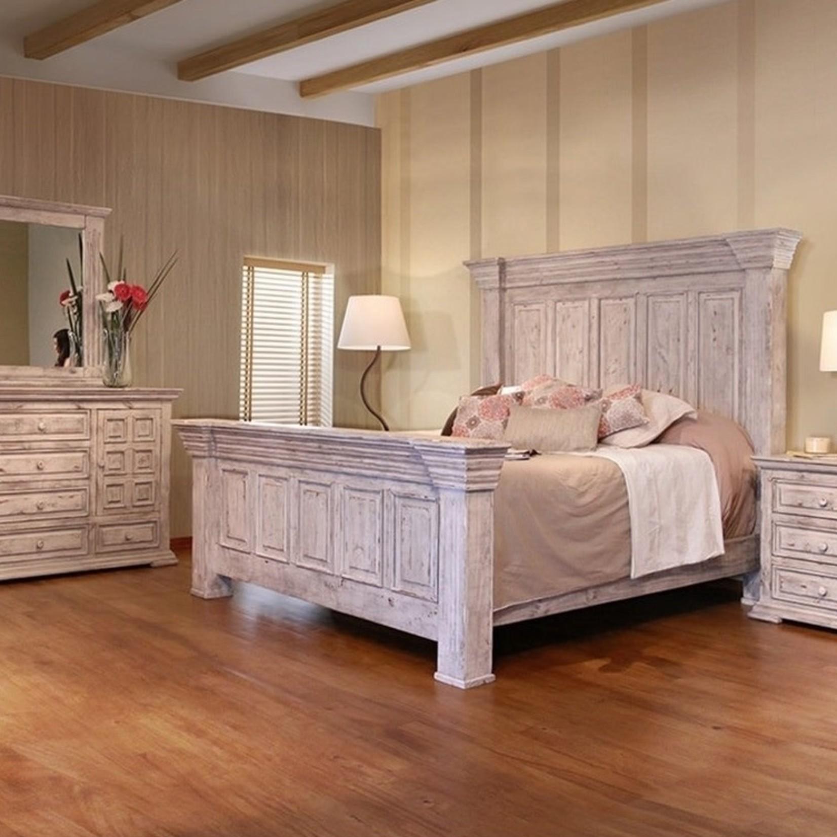 Terra White Bedroom Queen Bed FLOOR MODEL