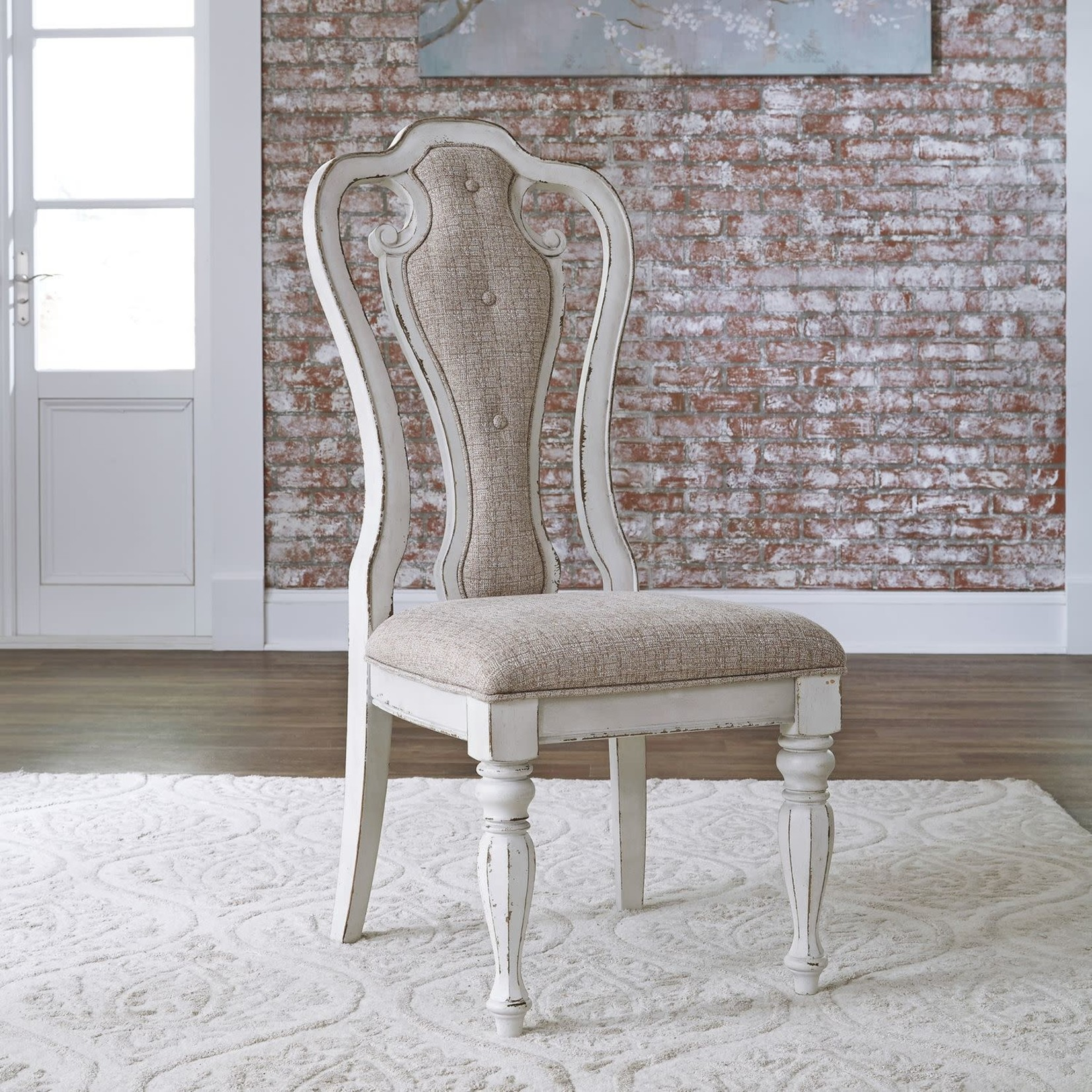 Magnolia Manor Splat Back Uph Side Chair