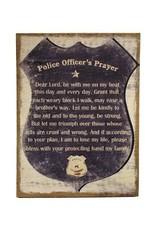 Police Officer Prayer Wall Decor Burlap - Dirt Road ...