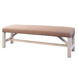Terra White Weathered Studded Bench