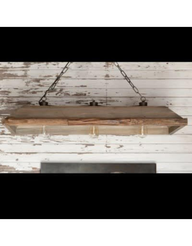 Wooden Trough Light Fixture